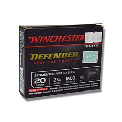 "Winchester PDXI Defender 20 Gauge 2.75"" .75 oz Segmenting Slug 5 Rounds"