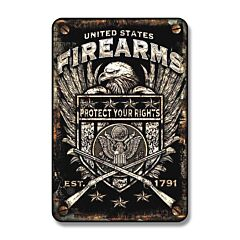 Signs 4 Fun United States Firearms Tin Sign