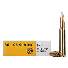 Sellier & Bellot 30-06 Springfield 180 Grain Full Metal Jacket 20 Rounds