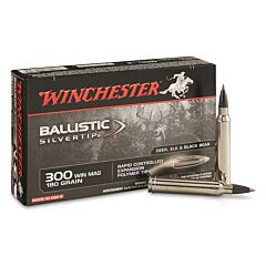 Winchester Ballistic Silvertip 300 Winchester Magnum 180 Grain Rapid Controlled Expansion Polymer Tip 20 Rounds