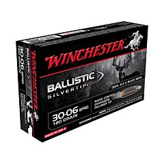 Winchester Ballistic Silvertip 30-06 Springfield 180 Grain Rapid Controlled Expansion Polymer Tip 20 Rounds