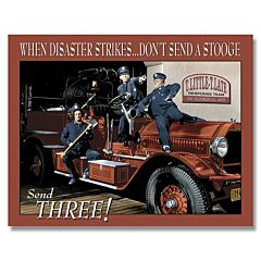 Three Stooges Fire Department Tin Sign