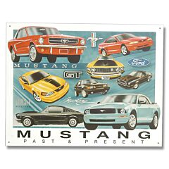 Ford Mustang Past & Present Tin Sign