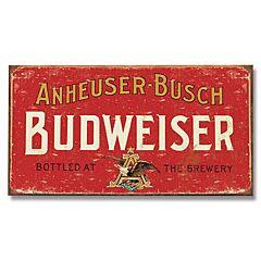 Budweiser Weathered Tin Sign
