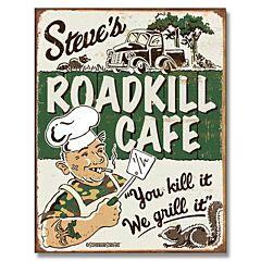 Roadkill Cafe Tin Sign