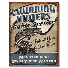 Churning Waters Tin Sign