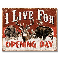 Opening Day Tin Sign