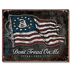 Don't Tread On Me Vintage Flag Tin Sign