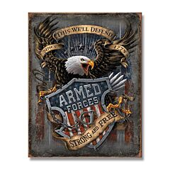Armed Forces Tin Sign