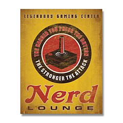 Nerd Lounge Tin Sign