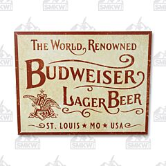 Budweiser World Renowned Tin Sign