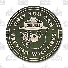 Smokey Bear Circle Tin Sign