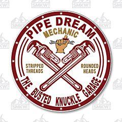 Pipe Dream Mechanic Circle Tin Sign