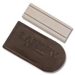 "Lansky 3"" Hard Super Arkansas Pocket Stone with Pouch"