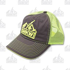 SMKW Logo Hat Neon Yellow and Gray