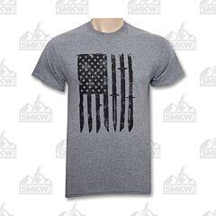 SMKW Logo Knife Flag T-Shirt