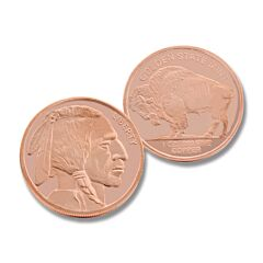 One Ounce Buffalo Nickel Copper Round
