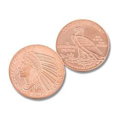 One Ounce Incuse Indian Copper Round