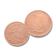 One Ounce Walking Liberty Copper Round