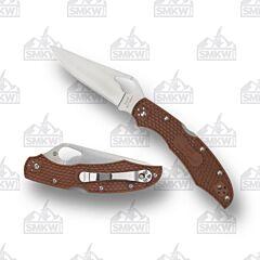 Spyderco Byrd Cara Cara 2 8Cr13MoV Stainless Steel Blade Brown FRN Handle