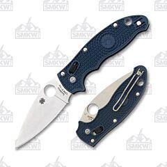 Spyderco Manix 2 Lightweight CPM-S110V Stainless Steel Blade Blue FRN Handle