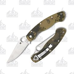 Spyderco Military CPM-S30V Stainless Steel Blade Digi Camo G-10 Handle