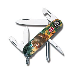 "Victorinox Swiss Army Tinker Smokey Bear Series 3.625"" with Tree Hugging Printed ABS Handles and Stainless Steel Blades and Tools Model STBV911"