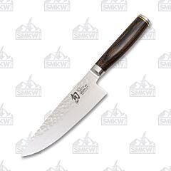 "Shun Premier 6"" Chef's Knife VG-MAX Damascus Pakkawood Handle"