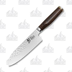"Shun Premier 5.5"" Santoku Knife VG-MAX Damascus Blade Pakkawood Handle"