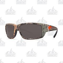 Costa Fantail Sunglasses Realtree XTRA Camo Plastic Frame Gray Polarized Plastic Lenses