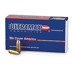 Ultramax Remanufactured 9mm 115 Grain Full Metal Jacket 50 Rounds