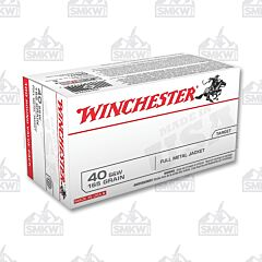 Winchester White Box 40 S&W 165 gr FMJ 100 Rounds