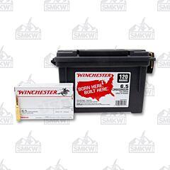 Winchester USA Ammo 6.5 Creedmoor 125 Grain Full Metal Jacket Open Tip 20 Rounds