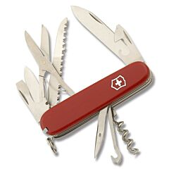 """Victorinox Swiss Army Huntsman 3.625"""" with Red Composition Handle and Stainless Steel Blades and Tools Model 53820"""