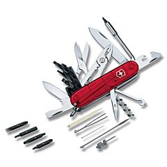 "Victorinox Swiss Army CyberTool 3.625"" with Translucent Ruby Composition Handle and Stainless Steel Blades and Tools Model 53919"