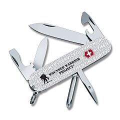 "Victorinox Swiss Army Knives Wounded Warrior Project Tinker 3.50"" with Gray Celidor Handles and Stainless Steel Blades and Tools Model 55073.US2"