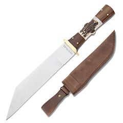 Westmark Seax Fixed Blade Stainless Steel Blade Wood & Stag Handle