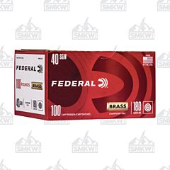 Federal Champion Ammo 40 S&W 180 Grain Full Metal Jacket 100 Rounds