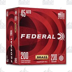Federal Champion Ammo 45 ACP 230 Grain Full Metal Jacket 200 Rounds