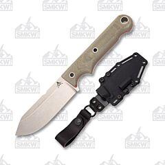 White River Firecraft 4 S35VN Stainless Steel Blade Green Micarta Handle Kydex Sheath