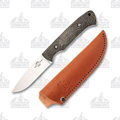 White River Knives Hunter Black Burlap Micarta