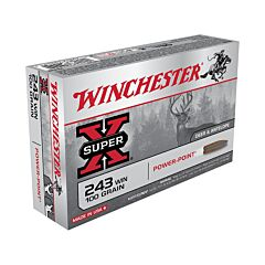 Winchester Super-X 243 Winchester 100 Grain Pointed Soft Point 20 Rounds