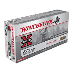 Winchester Super-X 270 Winchester Short Magnum 150 Grain Jacketed Soft Point 20 Rounds