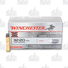 Winchester Super-X 32-20 WIN 100 Grain Lead Flat Nose 50 Rounds