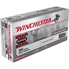 Winchester Super-X 35 Remington 200 Grain Power Point Soft Point 20 Rounds