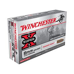 Winchester Super-X 8mm Mauser 170 Grain Jacketed Soft Point 20 Rounds