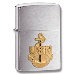 Zippo Navy Anchor Insignia Lighter