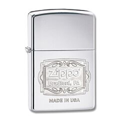 Zippo Bradford PA Logo Lighter
