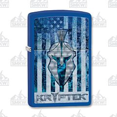 Zippo Royal Blue Matte Kryptek Flag Lighter