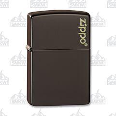 Zippo Brown Logo Lighter